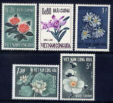 VIETNAM, SOUTH Sc#261-5 1965 Flowers MNH