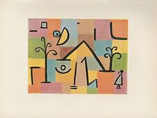 "1955 Vintage PAUL KLEE ""ORIENTAL SWEET"" MOON IN SKY COLOR Art Print Lithograph"