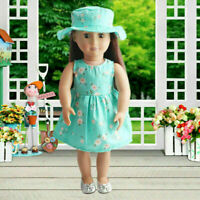 Fashion Summer Floral Dress Party For 18 Inch Girl Clothes Accessory N Doll T5D0