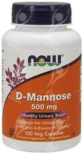 Now Foods, D-Mannose, 500mg x120caps - Urinary Tract Support