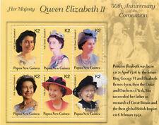 Papua New Guinea 2003 - Queen Elizabeth 50th Coronation Sheet of 6 Stamps MNH