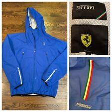 Scuderia Ferrari Rain Wind Top Jacket Blue Mens Small