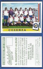 FIGURINA CALCIATORI PANINI 1994/95 - NUOVA/NEW N.428 SQUADRA - COSENZA