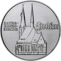 DDR 5 Mark Gedenkmünze1989 bfr Katharinenkirche Zwickau lose*