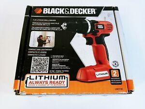 New Open Box Black & Decker 7.2V Lithium Drill/Driver Model LDX172C