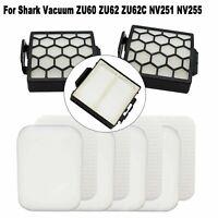 HEPA Filter Foam Sponge Brushroll For Shark Upright Vacuum ZU60 ZU62 ZU62C NV251