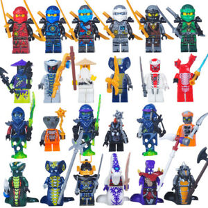 Ninja Mini Figure NEW UK Seller Fits Major Brand Blocks Bricks Kane Snake Sensei