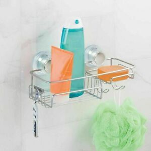 Shower Caddy Storage with Turn-N-Lock Suction and Soap Tray by Interdesign