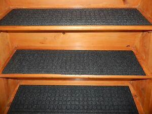 4 =  Step = 8.1/2'' x 35'' Outdoor / Indoor  Non-Slip Staircase 100% Rubber .