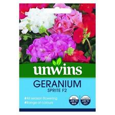 Unwins Grow Your Own At Home All Season Flowering Geranium Sprite F2 Seeds