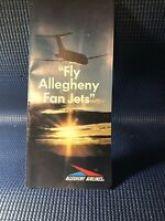 Vintage Allegheny Airlines Fan Jet Brochure: 1967/68 Era