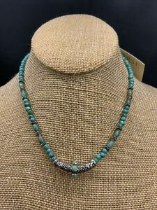 Barse Taxco Curves Necklace-Turquoise- Sterling Silver-NWT