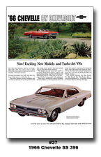 24x36 1966 CHEVROLET CHEVELLE SS 396 CHEVY AD POSTER HUGE MANCAVE CAR ART