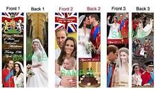 3 Set-PRINCE WILLIAM KATE Middleton BOOKMARK Baby GEORGE Photo Wedding Photo ART