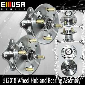 New Pair Set Rear Wheel Hub & Bearing Assembly Kit Chevy Geo Toyota Aftermarket