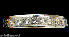 14KT .72CT DIAMONDS EDWARDIAN DECO REVIVAL BAND PRINCESS CUTS+