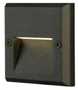 (3) NEW Hampton Bay 10-Watt LED Metal Deck/Step Light, Black Finish, Low Voltage
