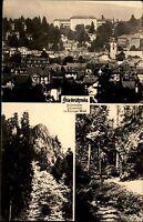 Friedrichroda Thüringer Wald DDR Mehrbildkarte 1960 Teilansicht Waldpartien u.a.
