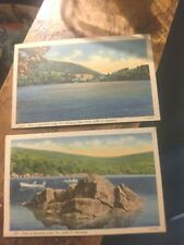 4 Linen Mountain Lake Virginia  Postcards  By Bell Lynchburg   Un-posted