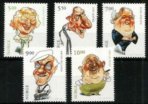 Norway 2001 Thespians 2nd Series, Art by Finn Graaff, MNH/UNM