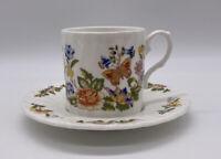 Aynsley Cottage Garden Demitasse Cup And Saucer Set Vintage Bone China England