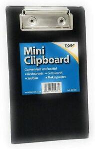 Black Mini Clipboard-Small Pocket A6 Clip Board Tiger 301438
