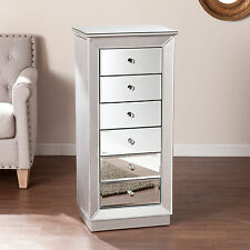 CJA31957 6 DRAWERS MIRRORED JEWELRY CABINET ARMOIRE