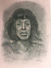 Jennie Lenzi original vintage Life Drawing of female