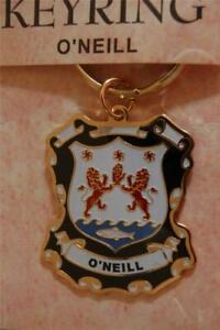O'NEILL Family KEYRING Coat of Arms - Heraldic Crest - Metal Key Chain