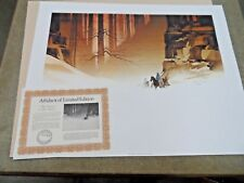 """Michael Atkinson THREE HORSEMEN 20"""" X 27"""" S/N Print in Mint condition with COA"""