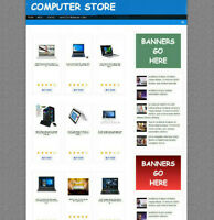 COMPUTER SUPPLY STORE WEBSITE WITH UK AFFILIATE & NEW FREE DOMAIN FULLY STOCKED