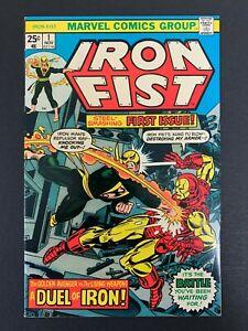 IRON FIST #1 *HIGH GRADE!* (MARVEL, 1975) IRON MAN!  BYRNE ART!  LOTS OF PICS!