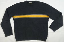 Rare Vintage EMPORIO ARMANI Center Stripe Knit Sweater 90s Made In Italy Black