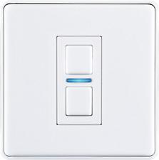 Lightwave L21WH 1 Gang Smart Series Dimmer - White