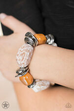 Paparazzi Jewelry Glaze of Glory Peach Blockbuster Bracelet - 261