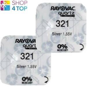 2 Rayovac 321 SR616SW Batterie Argento Oxide 1.55V Watch Batteria Exp 2022 Nuovo