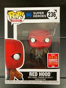 Red Hood #236 DC Super Heroes Funko Pop Vinyl SDCC 2018 - Very Good Condition