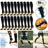 Copper Compression Socks 20-30mmHg Graduated Support Men's Women's S-XXL 10 Pair