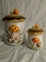 VINTAGE Sears Roebuck and Co. Merry Mushroom Canister Set, 1976, Made in Japan