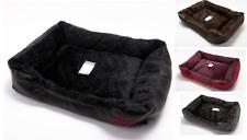Soft Pet Bed Mattress Basket Mat Fur & Leather Cushion Cat Puppy Dog Kitten