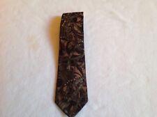 Handsome Brown And Dark Green French Zilli Tie, 100% Silk