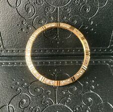 CUSTOM Solid 18K Gold Mens Diamond Bezel For Rolex Mens 18038 18238 36MM Watch