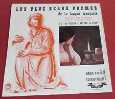 LES PLUS BEAUX POEMES DE LA LANGUE FRANCAISE LP N°1 GERARD PHILIPPE