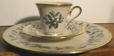 3 Piece Place Setting Lenox Holiday Pattern Ivory w/Gold Millennium Edition New!
