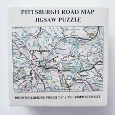 Vintage Pittsburgh Road Map 100 Piece Mini Puzzle Gameophiles 1973 SEALED