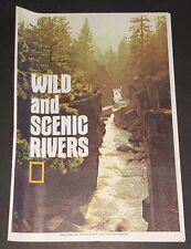 National Geographic large Map - Wild and Scenic Rivers (USA) - 1977