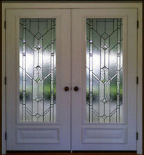"Stain Glass Pocket or french interior doors  36"" x 30"" 1 Pr"