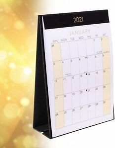 2021 Month To View Stand Up Desk Office Top Calendar Planner Freestanding