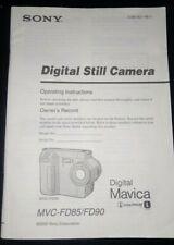 Sony MVC-FD85 FD90 Mavica Digital Camera - Instruction Manual Only