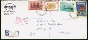 Mayfairstamps Bermuda M and M Reg Ship Combo Pomogranate Cover wwo_58727